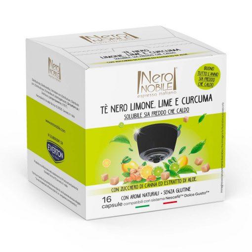 Fekete tea Lime, Citrom és Kurkuma kivonattal Dolce Gusto kompatibilis kapszulában 16db