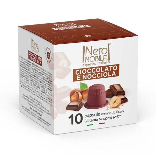 Mogyorós csokoládé Nespresso kompatibilis forró csokoládé kapszula 10db