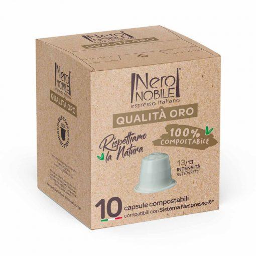 Qualita Oro Nespresso kompatibilis komposztálható kávékapszula 10 db