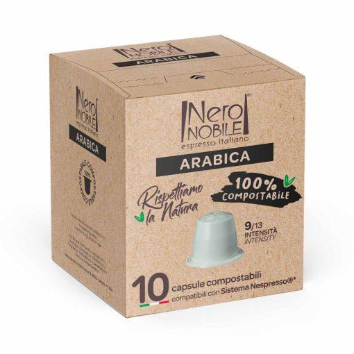Arabica Nespresso kompatibilis komposztálható  kávékapszula 10 db