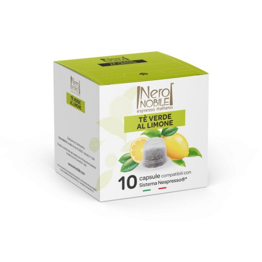 Zöld citrom tea Nespresso kompatibilis kapszula 10 db